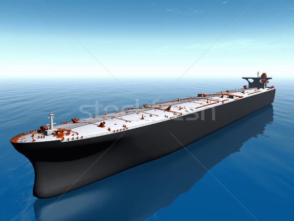 Olajtanker tenger víz óceán csónak ipar Stock fotó © njaj