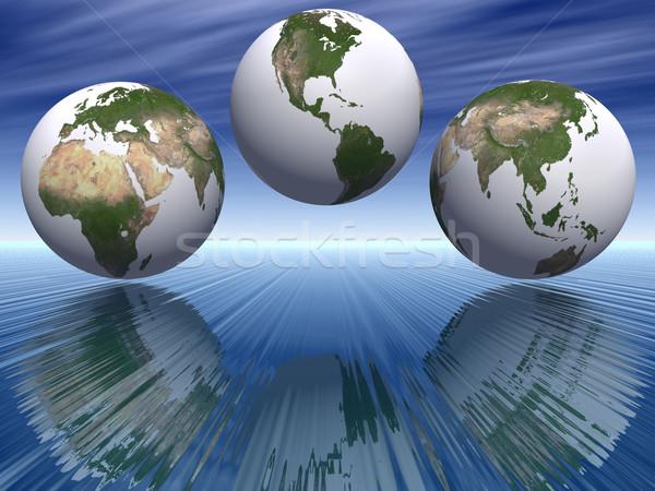 Terra céu planeta gráfico ambiente solar Foto stock © njaj