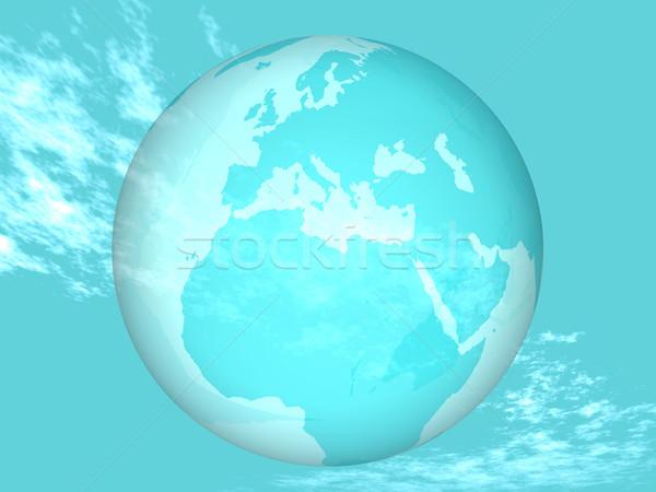 地球 空 惑星 グラフィック 環境 太陽 ストックフォト © njaj