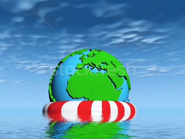 to  help the earth is drowning Stock photo © njaj