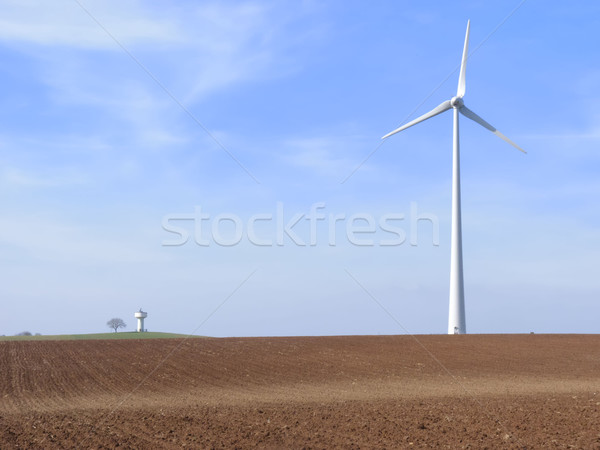 the  wind turbine and the water tower Stock photo © njaj