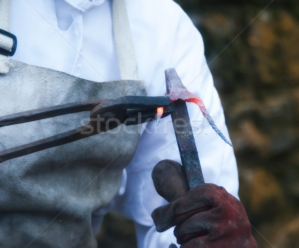 the blacksmith Stock photo © njaj