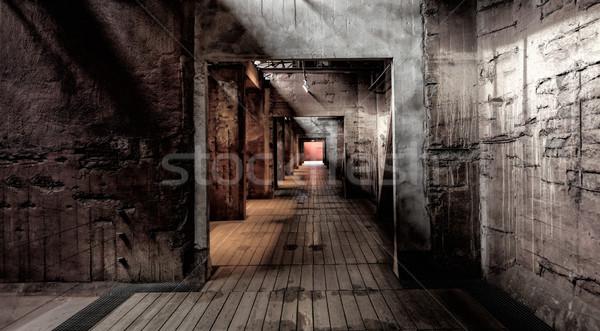 Сток-фото: долго · коридор · строительство · свет · архитектура · современных
