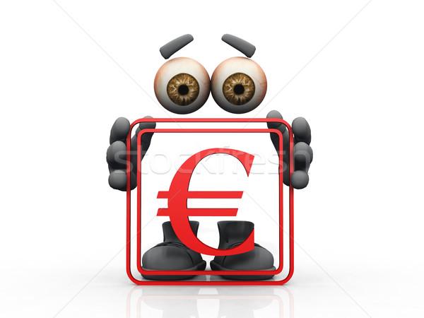 euro symbol on a white background  Stock photo © njaj