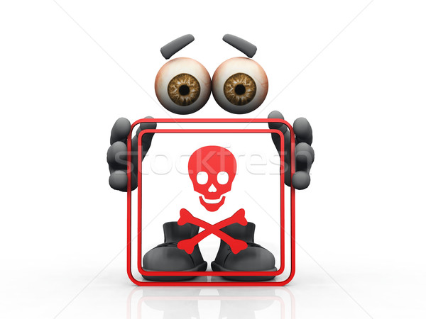 skull symbol on a white background  Stock photo © njaj