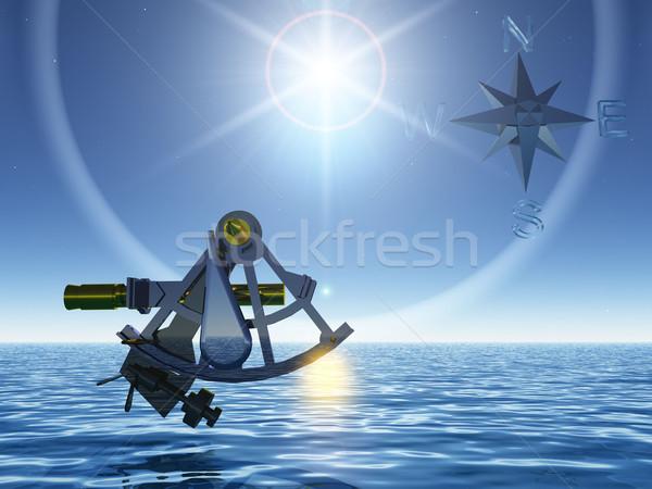 the sextant and the sea Stock photo © njaj