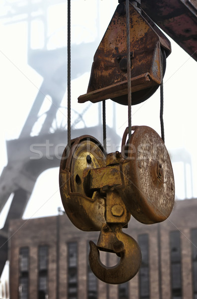 the hoist and the mine shaft Stock photo © njaj