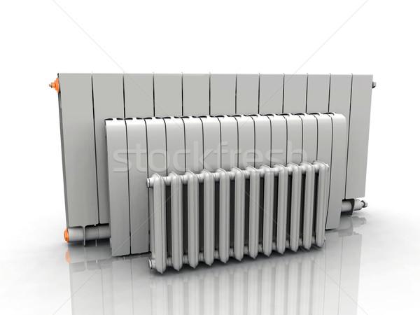 Radyatör beyaz Metal kış iç güç Stok fotoğraf © njaj