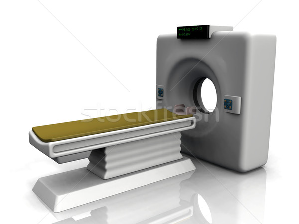 Stock photo: the mri machine