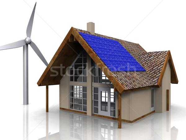 теплица строительство домой архитектура завода белый Сток-фото © njaj
