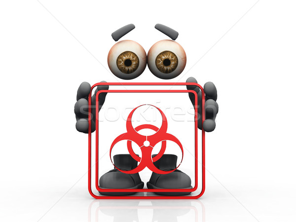 biohazard symbol on a white background 