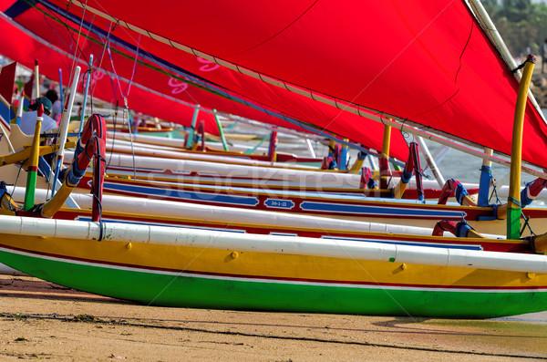 漁師 ボート バリ ビーチ 魚 太陽 ストックフォト © njaj