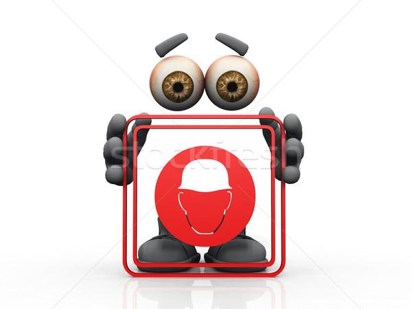 helmet use  symbol on a white background  Stock photo © njaj