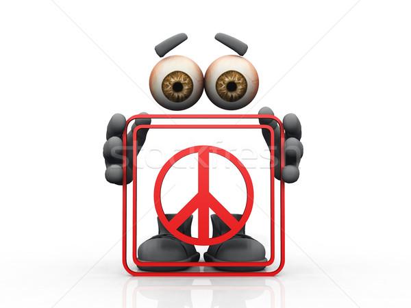 peace symbol on a white background  Stock photo © njaj