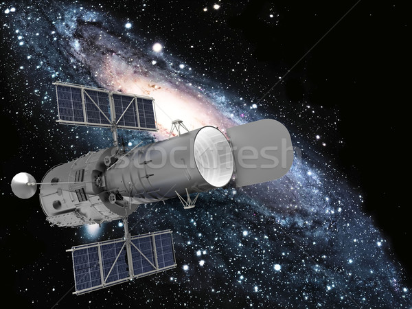 satellite and galaxy Stock photo © njaj