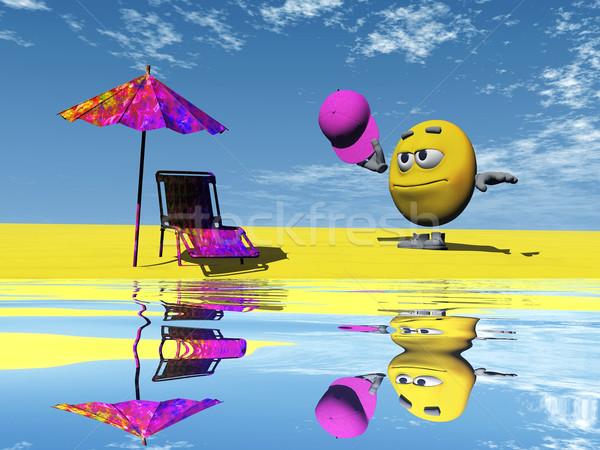 пляж воды зонтик символ форма Сток-фото © njaj