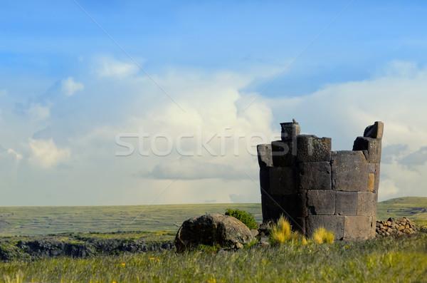 Peru landschap steen religieuze oude schilderachtig Stockfoto © njaj