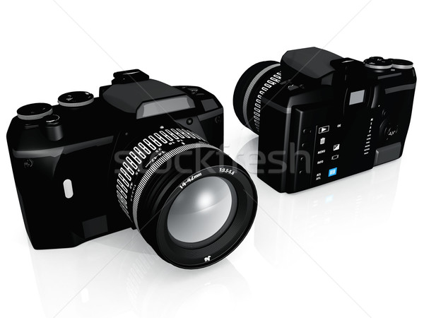 Odruch kamery biały ciało czarny cyfrowe Zdjęcia stock © njaj