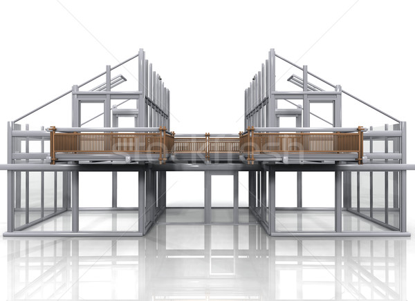 construction of a house Stock photo © njaj
