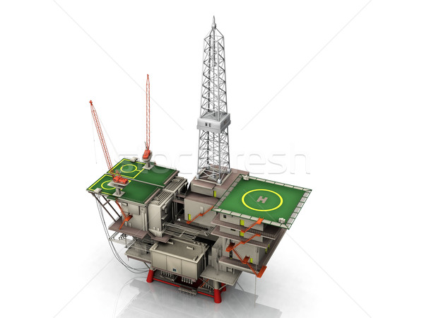 the oil platform Stock photo © njaj