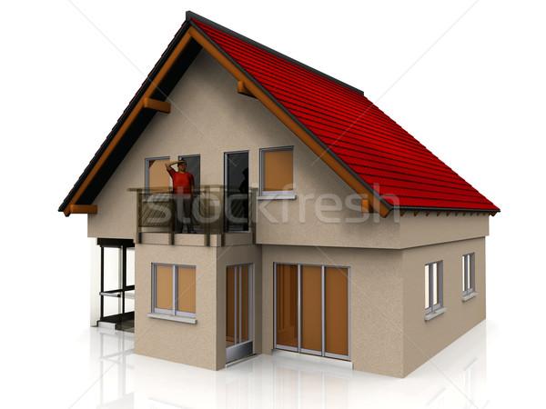 Mijn huis gebouw bouw home interieur Stockfoto © njaj