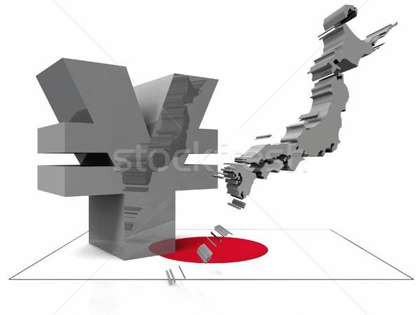 Yen zászló pénz absztrakt pénzügy bank Stock fotó © njaj