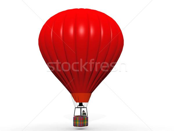 hot air balloon on a white background Stock photo © njaj