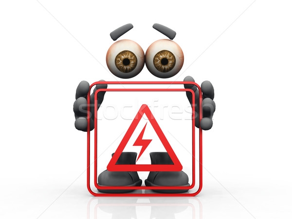 electricity  symbol on a white background  Stock photo © njaj