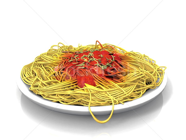 spaghetti  and tomato sauce Stock photo © njaj