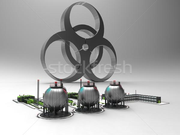 Vegyi gyár bioveszély biztonság kémia kutatás Stock fotó © njaj