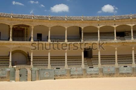 Aréna bika turizmus Spanyolország európai hagyományos Stock fotó © njaj