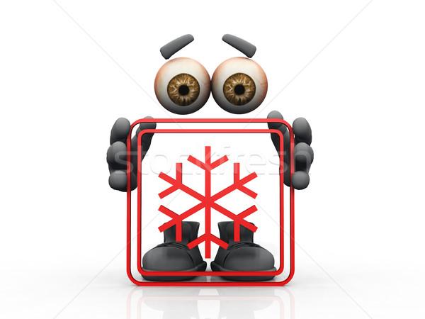 snow symbol on a white background  Stock photo © njaj