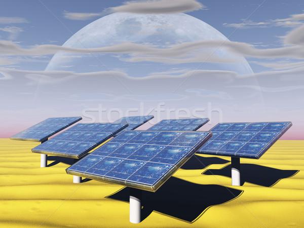 the solar panels Stock photo © njaj