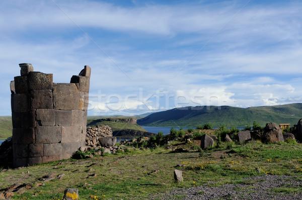 Peru krajobraz kamień religijnych starożytnych sceniczny Zdjęcia stock © njaj