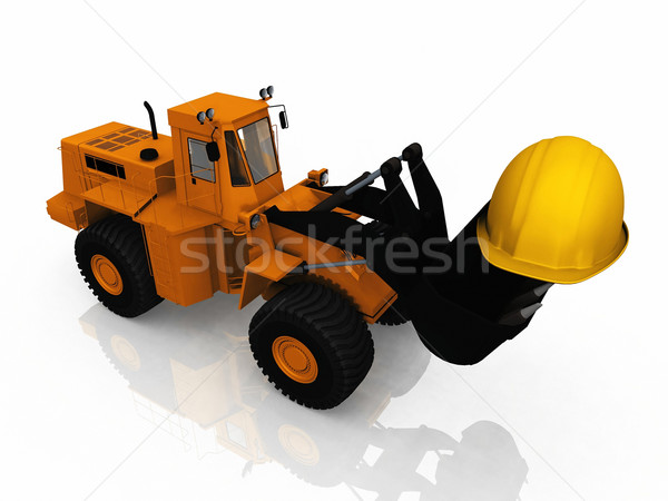 the loader and the helmet Stock photo © njaj