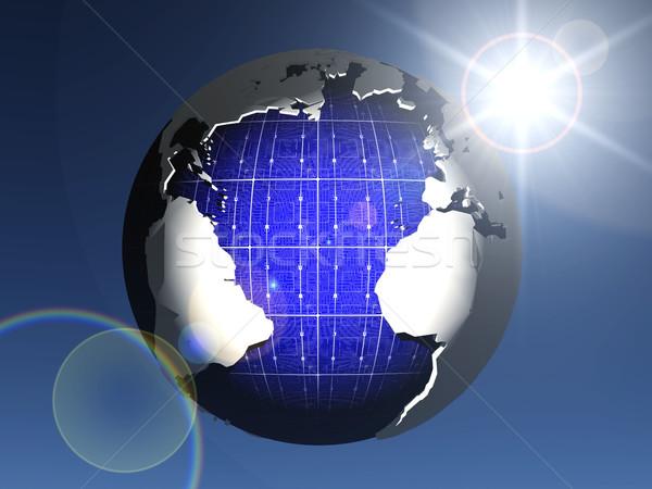 solar cell earth Stock photo © njaj