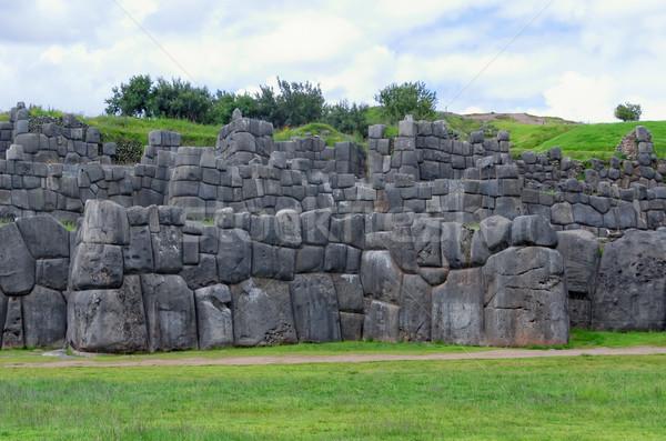 Peru fal utazás kő kő történelem Stock fotó © njaj