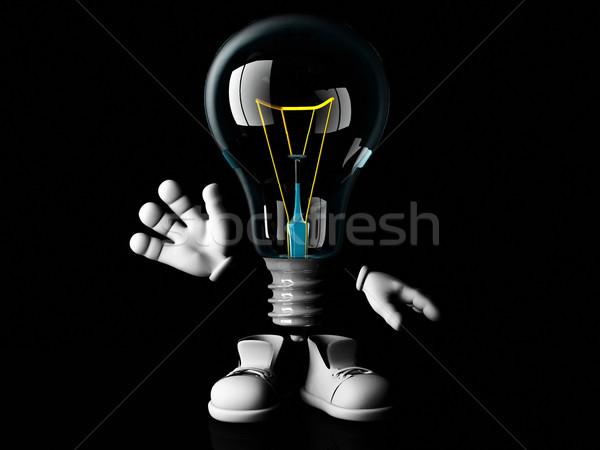 mister light bulb Stock photo © njaj