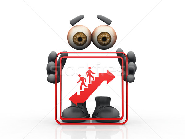 escalator symbol on a white background  Stock photo © njaj