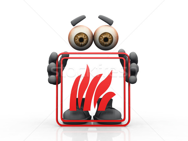 fire symbol on a white background  Stock photo © njaj