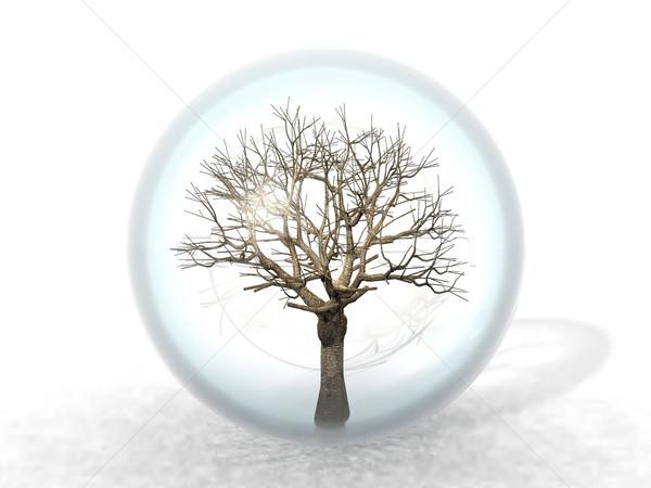 枯れ木 バブル 自然 工場 国 安全 ストックフォト © njaj