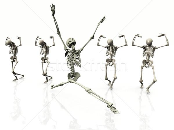 skeleton dancing Stock photo © njaj
