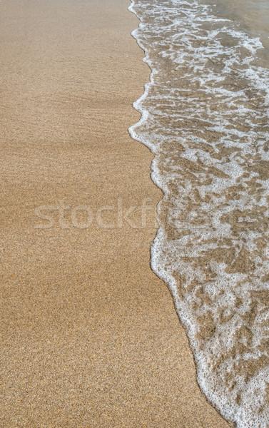 Homok hullám víz nyár part természetes Stock fotó © njaj