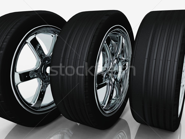 tires and rims on a white background Stock photo © njaj