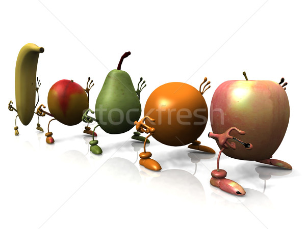 фрукты тварь продовольствие ног ног красный Сток-фото © njaj