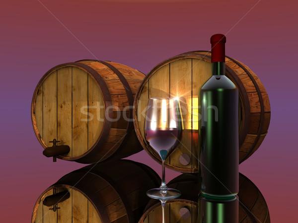 vine and barrels Stock photo © njaj