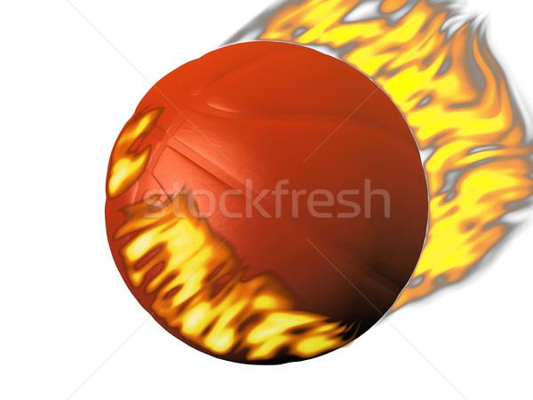 a basket ball sets fire Stock photo © njaj