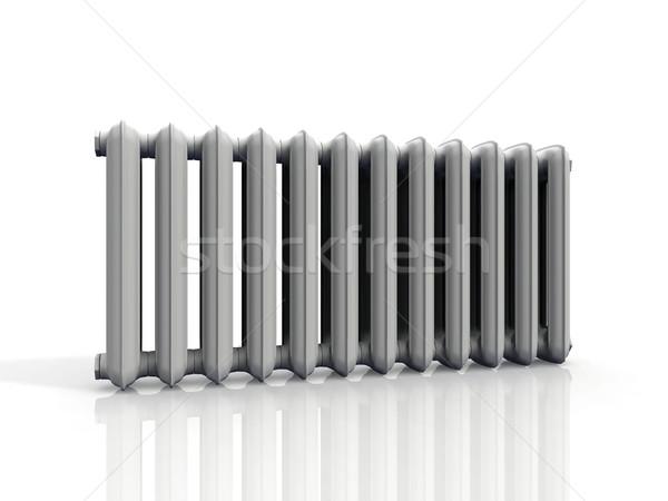 Radiatore bianco casa tecnologia metal stanza Foto d'archivio © njaj