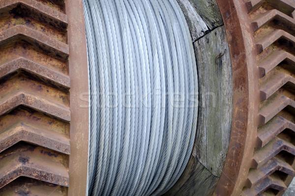 鋼 ケーブル リール 技術 金属 電源 ストックフォト © njaj