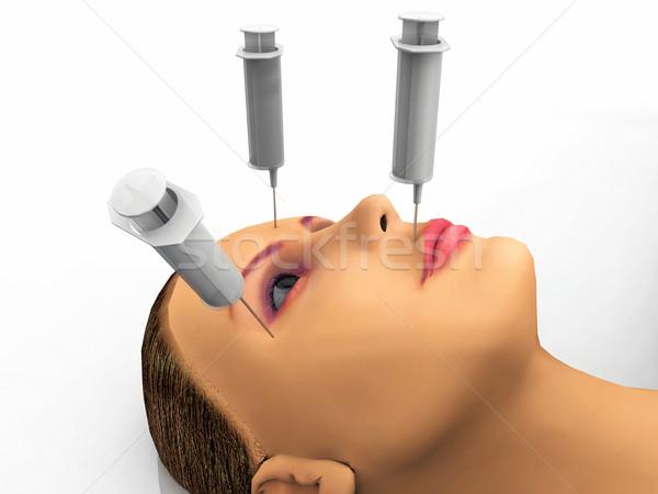 Kadın botox çok gözler tıbbi tıp Stok fotoğraf © njaj